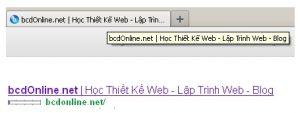 Tối ưu thẻ title (tiêu đề) trong HTML