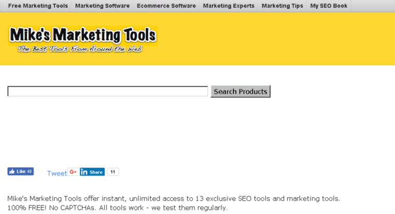 Công cụ Mike's Marketing Tools