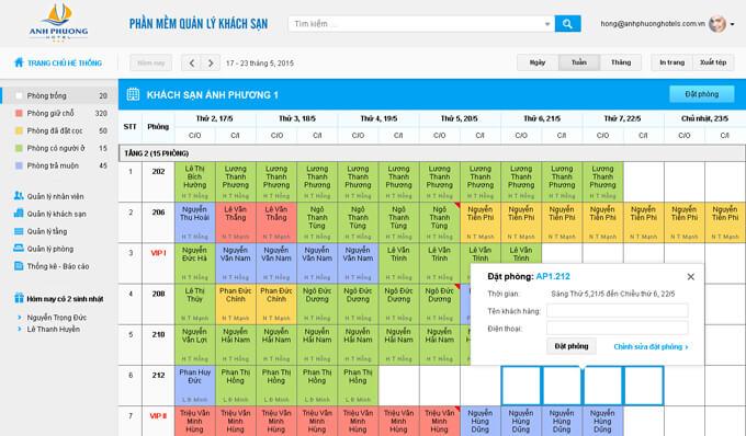 Phần mềm quản lý khách sạn Tất Thành