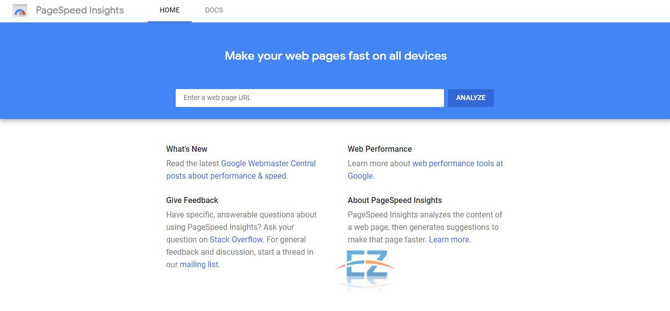 Nhập URL bạn muốn kiểm tra tốc độ website