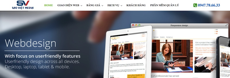 SaoViet Media - thiết kế website Đăk Lăk chuyên nghiệp