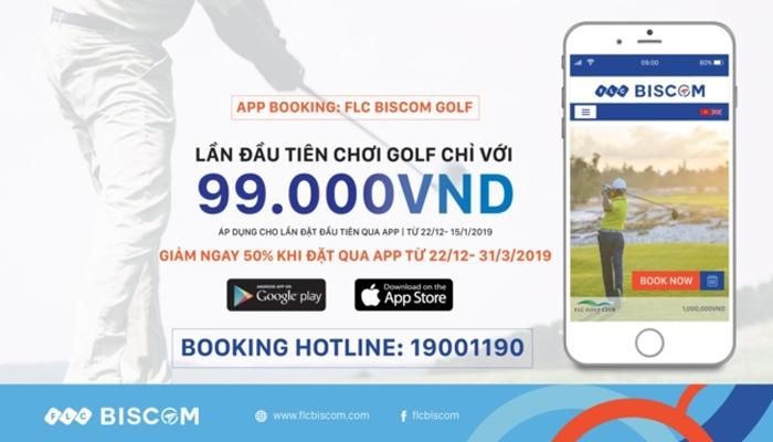 App đặt sân golf - FLC Biscom golf